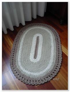 alfombra ovalada trapillo