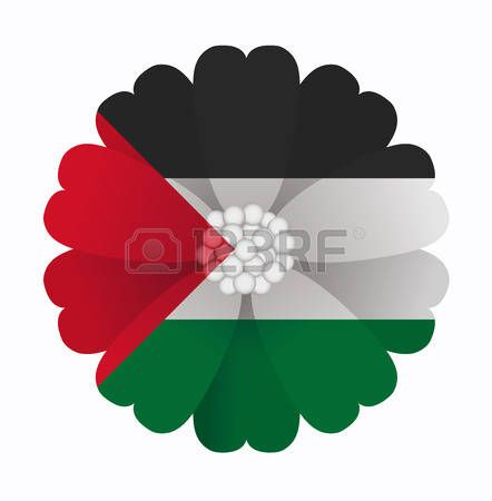 illustration of flower Flag Palestine photo