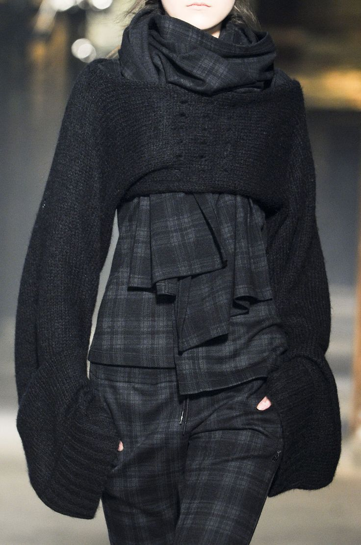 Y-3 Fall 2013 - I'm pretty sure I could come up with a pattern for that top piece.