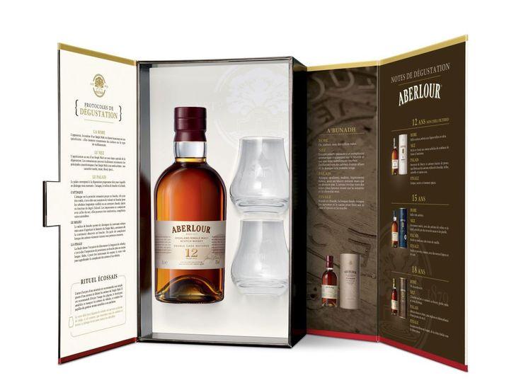 Whisky ABERLOUR 12 ans Un-chillfiltered Coffret 2 Verres 48% - LMDW Fine Spirits