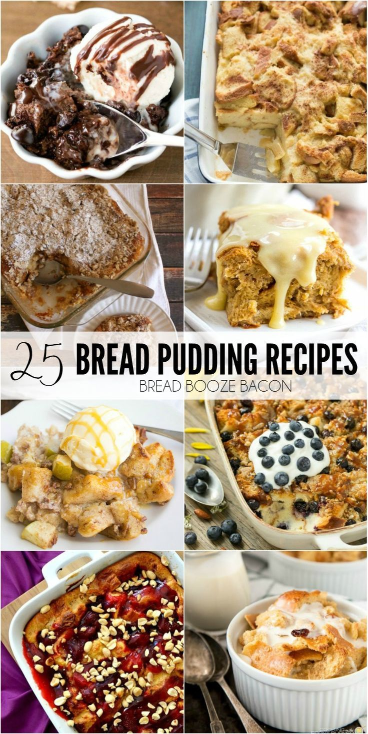 It's the holidays without a big piece of bread pudding to finish off the meal! These 25 Bread Pudding Recipes are some of my favorites! via @breadboozebacon