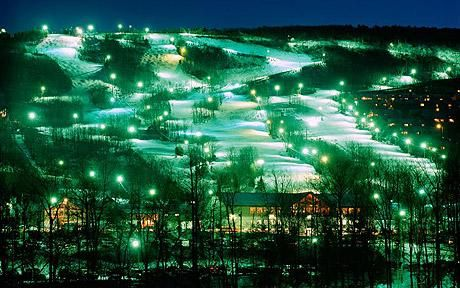 Escape to the Pocono Mountains by Darren Taffinder, (telegraph.co.uk) Pocono Night Skiing @ Camelback