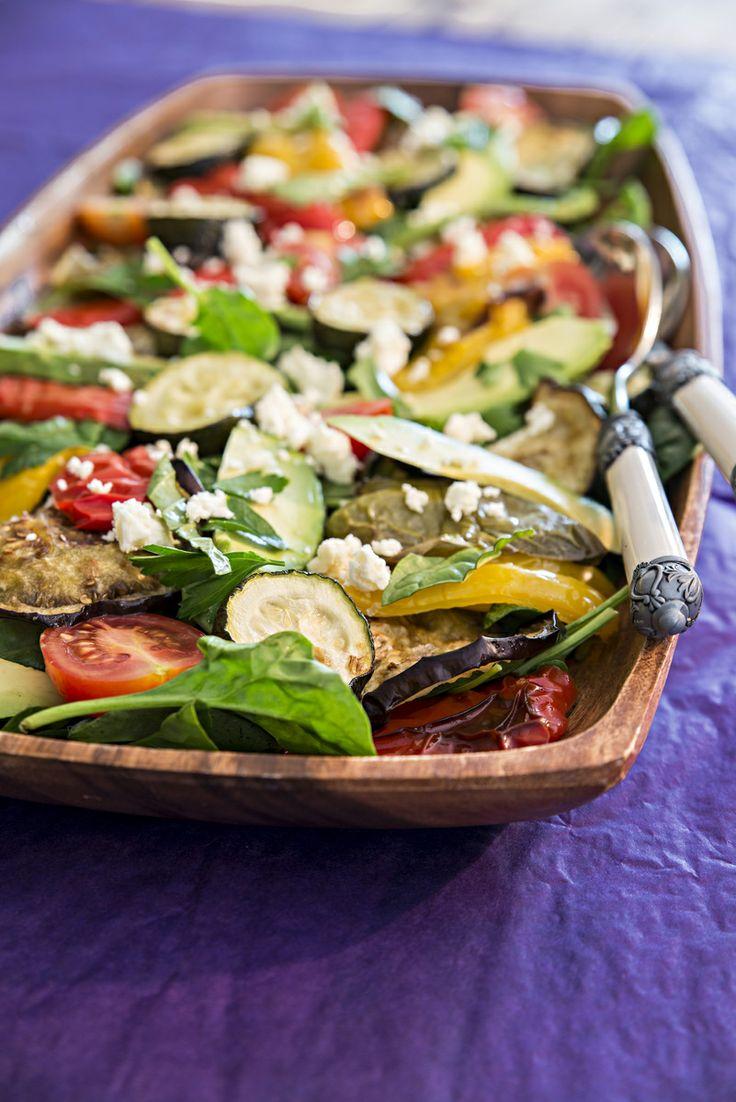 Roasted Veggie Salad with Lemon dressing