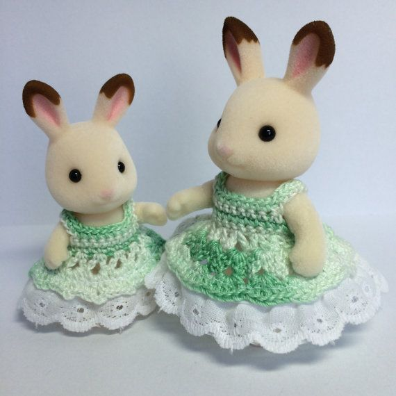 Crochet Dresses for Adult and Child Calico by StitcherybySnowflake
