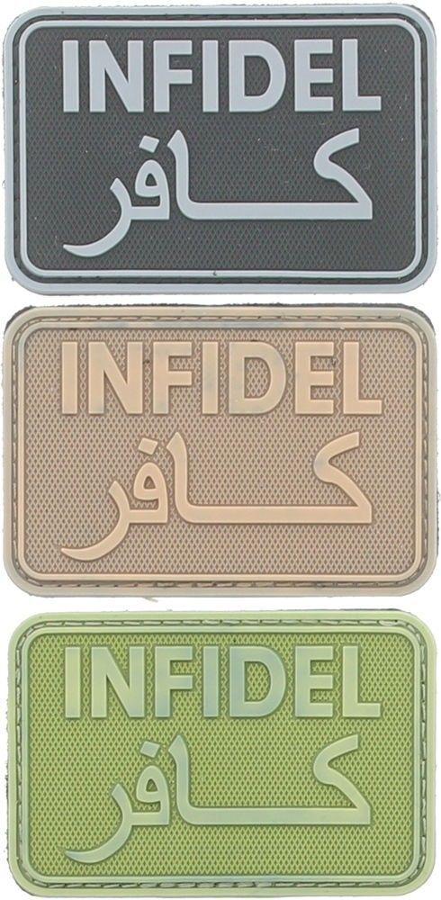10-Pack Arabic Infidel كافر US Military Morale Hook Waterproof PVC Patch 3