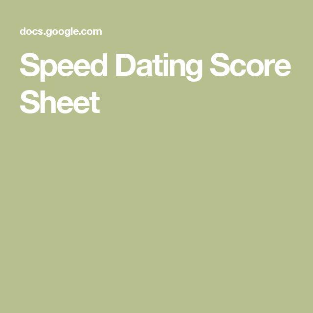 Speed dating score sheet