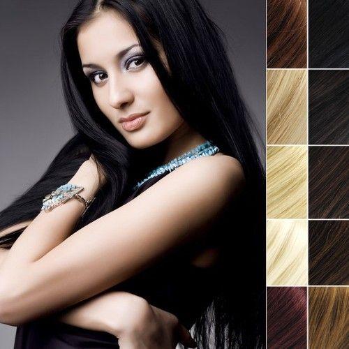 Натуральные волосы для ленточного наращивания Hair Talk. Только натуральные оттенки. Длина волос 50 см.