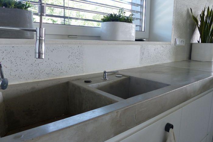 die besten 17 ideen zu beton arbeitsplatten auf pinterest zementplatten und betonb den. Black Bedroom Furniture Sets. Home Design Ideas
