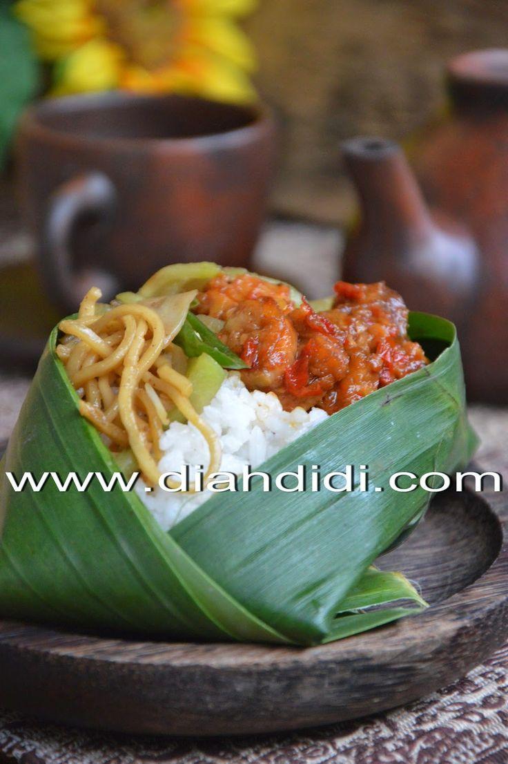 Nasi Bungkus Ala Nasi Ponggol Khas Tegal Resep masakan