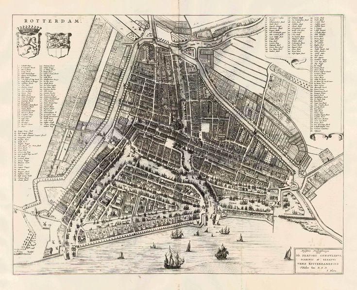 Kaart van Rotterdam, The Netherlands - Blaeu, 1649 (map)