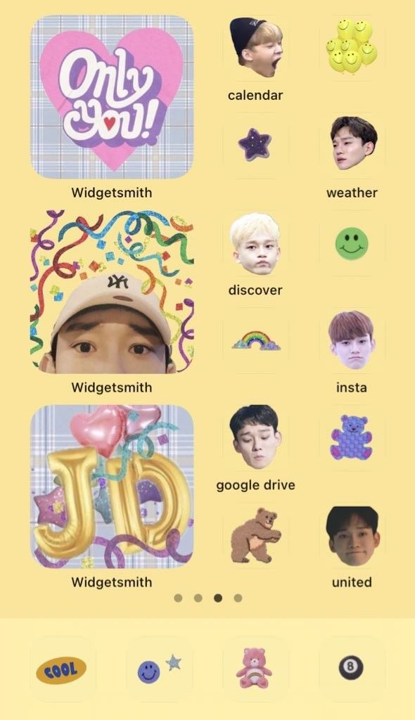 Bts Inspired Ios 14 Home Screen Layout Ideas Yellow Aesthetic Wallpapers For Iphone Homescreen Iphone Wallpaper App Iphone Home Screen Layout Aesthetic iphone home screen bts