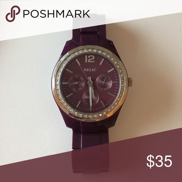 Purple Relic Watch Stainless steel- very good condition! relic brand Accessories Watches