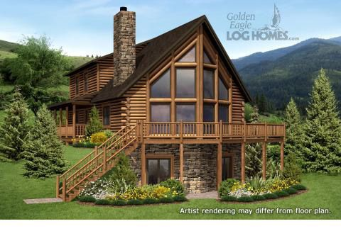 ideas about Cabin House Plans on Pinterest   Log Cabin House    Log Homes and Log Home Floor Plans Cabins by Golden Eagle Log Homes