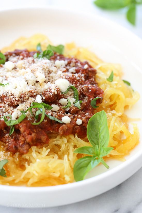 Make meat sauce AND Spaghetti Squash at the same time with this delicious…