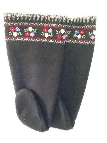 Inuit made embroidered duffle socks via Kitty Pearson