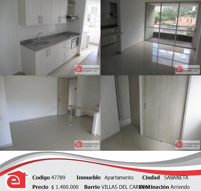 Apartamento,  Sabaneta, cerca a la iglesia villas del Carmen y al Centro Comercial Mayorca. Conócelo en http://www.arrendamientosenvigadosa.com.co  comunícate a nuestro PBX 444 68 68 o pregúntanos por este medio.