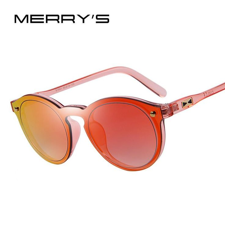 MERRY'S Fashion Women Sunglasses Men Shades Luxury Brand Designer Sun glasses Integrated Eyewear Candy Color UV400