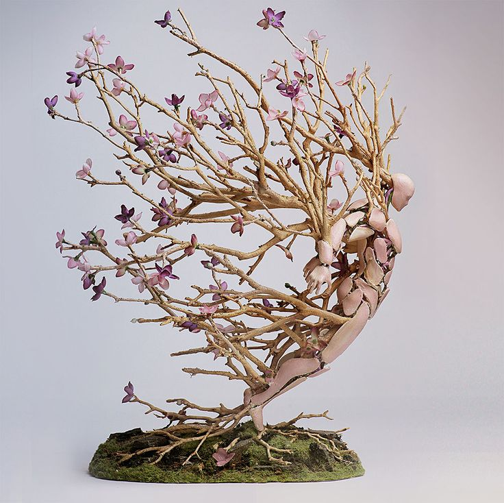 Assembled Figurines by Garret Kane Appear to Burst with the Seasons