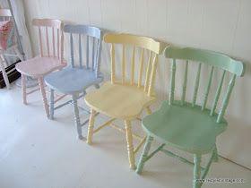 Pastel kitchen chairs