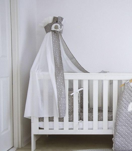 Betthimmel - Elefanten - Betthimmel für Kinderbett - ein Designerstück von muzponyde bei DaWanda
