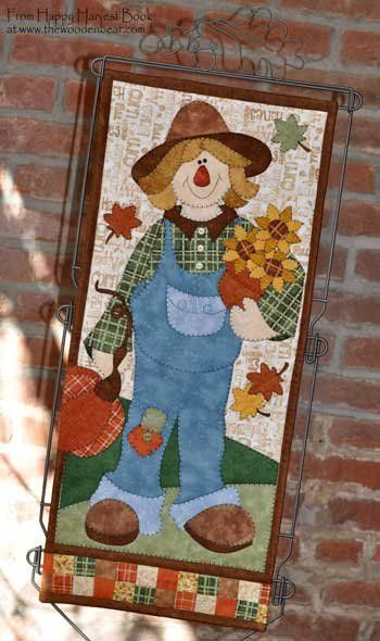 Scarecrow Banner in the Happy Harvest book by Kelly Mueller of The Wooden Bear.