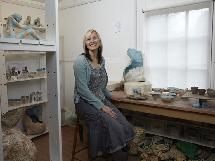 Fayo Mayo, ceramic sculptor, Surrey Artists Open Studios