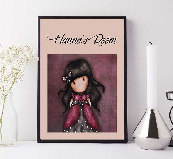 Gorjuss Poster Nursery Decor Wallart Girl's by TheLabelBoutique