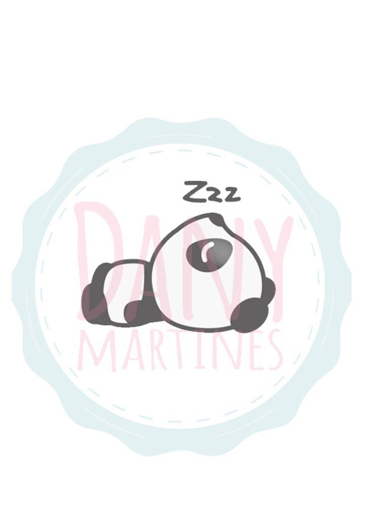 Molde Panda - Panda dorminhoco   Assista o tutorial: https://www.youtube.com/watch?v=Y83-z20vViU