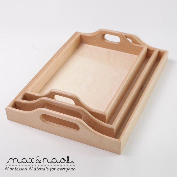 Beautifully handcrafted wooden Montessori trays, ideal for practical life activities, food preparation and displaying Montessori materials on the shelves.  We offer these trays in 3 different sizes, but can create them in any other custom size too.  ***ABOUT OUR PROCESS***  Each of our products are designed in-house by a husband and wife team, the parents of Max&Naoli.  After designs are finished the products are then made to order with love and care by the lovely people of a missionary ...