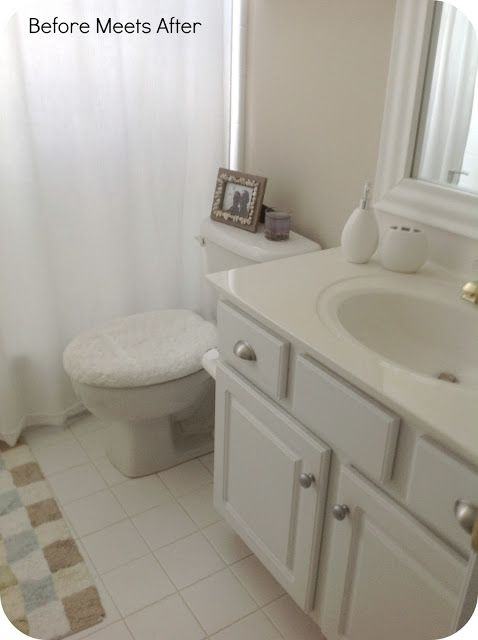 Before Meets After: Bathroom vanity makeover with Annie Sloan Chalk Paint