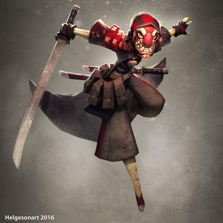 Samurai - Character Design , Johannes Helgeson on ArtStation at https://www.artstation.com/artwork/oQPyJ
