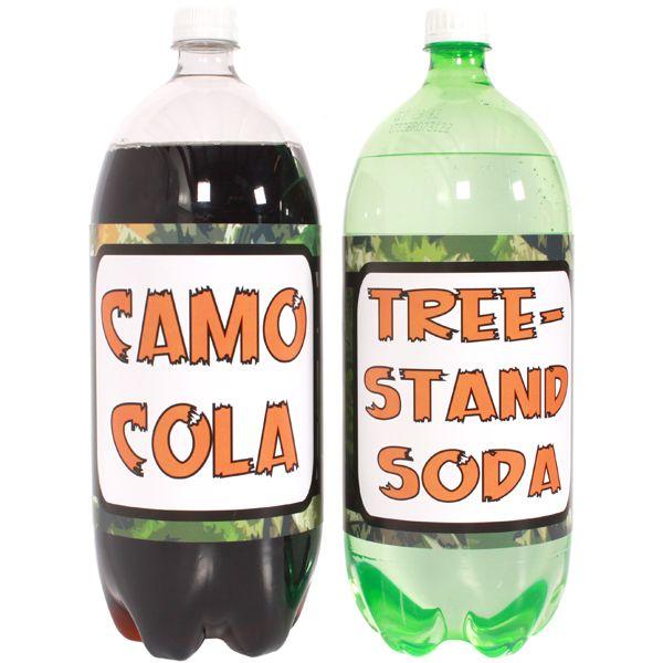 Deer Hunter Large Bottle Labels dress up your 2 liter soda bottles.