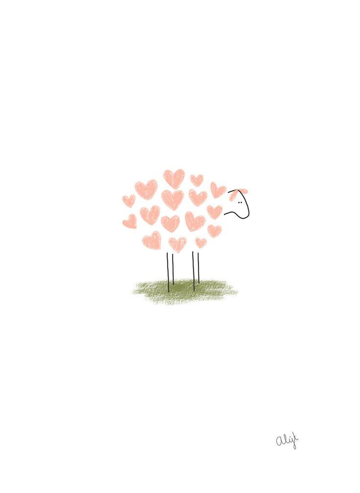 Sheep Illustration http://circlebirthday.tumblr.com/