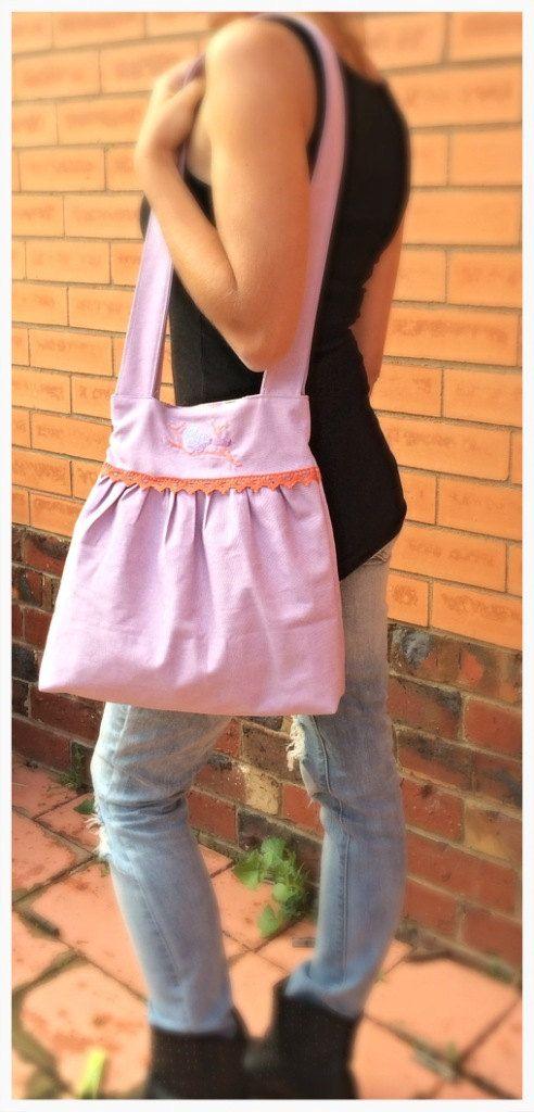 Embroided Handbag by PiggytailsByLisaQ on Etsy