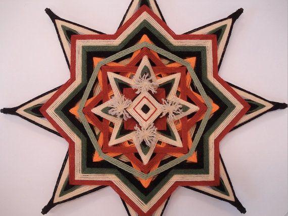 Sagrado Mandala hilo de cedro Ojo de Dios por HighDesertAlchemy