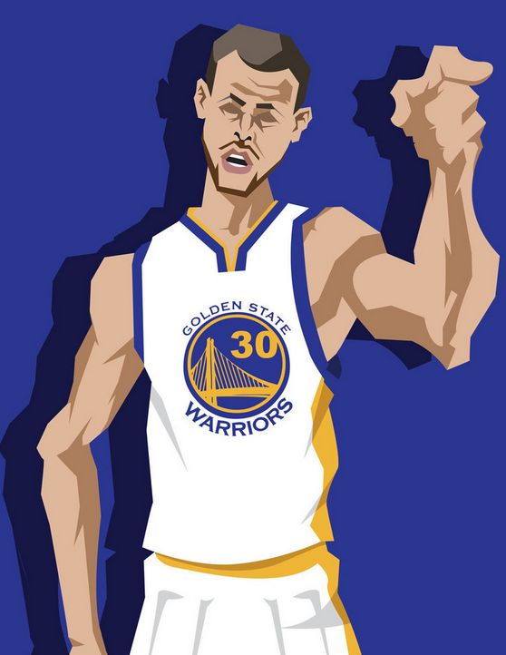 453b615e6569 Stephen Curry  All-Star Game Bound  Caricature Art