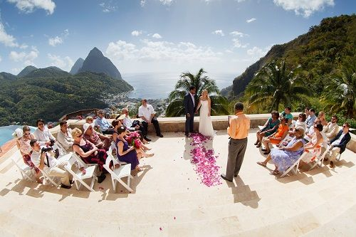 The Best Destination Wedding Locations In The Caribbean: Pavilion Wedding Location St Lucia Caribbean Tropical