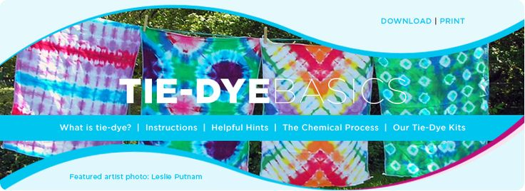 Tie-Dye Basics. Good simple instructions. Always a fun method to do with kids.