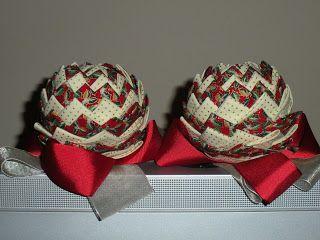 Mi rinconcito de labores: Bolas navidad de patchwork