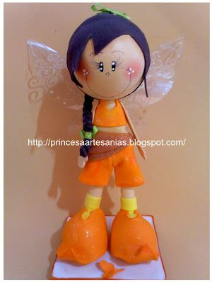 Little Fall fairy doll...cute, made from fun foam...follow photo