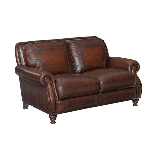 "Found it at Joss & Main - Haley 62"" Leather Loveseat"