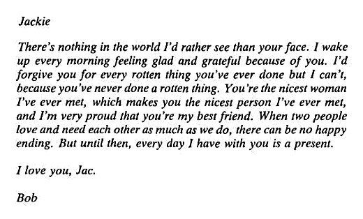 Bob Monkhouse to his wife @LettersOfNote