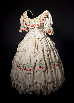 BALLET RUSSES – Carnival [Carnaval]; Léon BAKST, designer (Belarus (Russia) 1866 – France 1924). Dress from costume for Columbine c.1942:  acetate, cotton lining, metal boning and fasteners, paint . National Gallery of Australia, Canberra