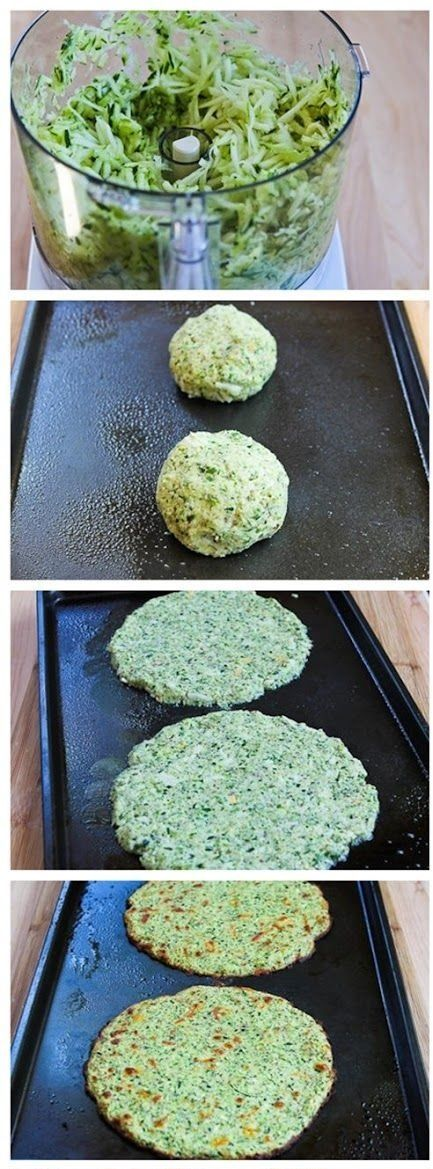 Zucchini pizza crust: Chop zucchini, add some herbs and spices and mix well, put into balls, flatten on cooking sheet over a bit of non-stick spray or cook on silicone tray. Bake for 15 min or longer depending on crispness desired.