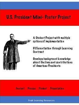 U.S. President Mini-Poster Project Students Contract for Grade Gallery Walk Presentation Format (scheduled via http://www.tailwindapp.com?utm_source=pinterest&utm_medium=twpin)