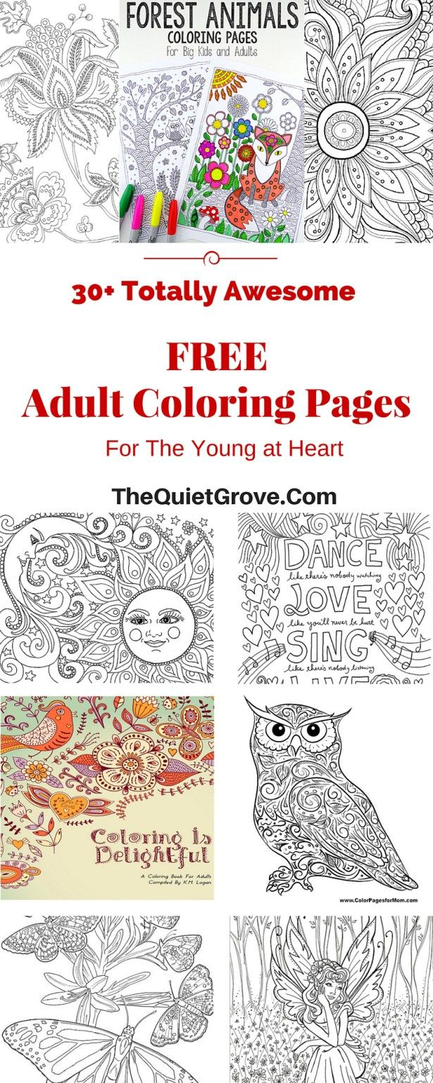 Stress reducing adult coloring pages free - 30 Totally Awesome Free Adult Coloring Pages