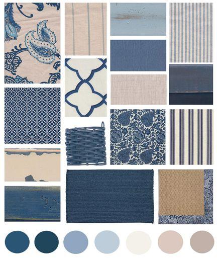 Color Board: Blue + White | The Distinctive Cottage