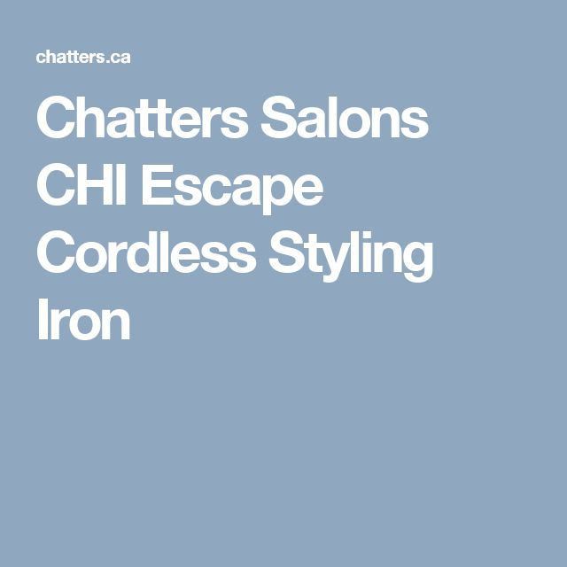 Chatters Salons CHI  Escape Cordless Styling Iron