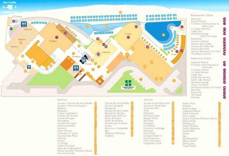 Sun Palace Resort Map Mexico wwwromanticplanetca  Resort Maps