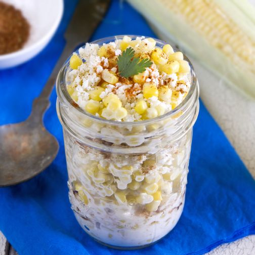 Elotes (Mexican Roasted Corn Cup). Authentic street style recipe and a #vegan recipe. A great side for Cinco de Mayo!